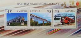 PONTS ET TRAINS 2012 - NEUF ** - YT BL 30 - MI BL 31 - Latvia