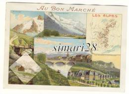 CHROMO - AU BON MARCHE - LES ALPES - Au Bon Marché