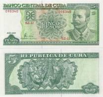 CUBA        5 Pesos      P-116[L]       2009       UNC - Cuba