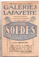 """Revue Publicitaire """" Galleries Lafayette"""" Ete 1913...catalogue Avec De Belles Illustration De Modes De L'epoque - Publicités"""