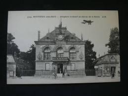 93 MONTREUIL SOUS BOIS AEROPLANE AU DESSUS MAIRIE - Montreuil