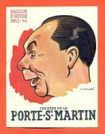 """Programme Theatre De La Porte Saint Martin  """" Mon Cure Chez Les Riches  """" - Programmes"""