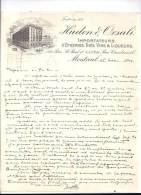 Entête 25/11/1909  -  MONTREAL  ( QUEBEC -  Canada )  HUDON  &  ORSALI  -  Epiceries,  Thés,  Vins,  Liqueurs - Canada