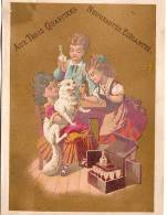 """Calendrier Chromo/Nouveautés/ """" Aux Trois Quartiers""""/Paris/La Dégustation/Cochet/Bouillon/1879      CAL102 - Kalenders"""