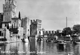 """Bellissima   Cartolina   Anni 50     """"  Lago Di Garda - Sirmione - Castello Scaligero    """" - Brescia"""