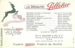 BUVARD BISCOTTES  Pelletier Ets H Pelletier Et Fils Cie  Romainville  16 Médailles D'or 1896 - Biscottes