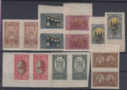 Lithuania Imperforated Series In Pairs MNH,MH **,* - Lithuania