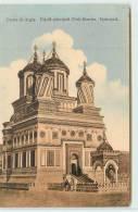 CURTEA DE ARGES  - Fatadat Principala (Vest) Biserica. Episcolala. - Roemenië
