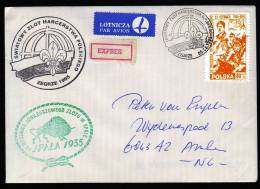 Poland Cover With Scouting Cancels Front And Back Wrzesnia1944/94 Local Stamp? - Padvinderij