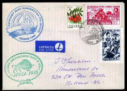 Poland Cover With Scouting Cancels Front And Back Wrzesnia1944/94 Local Stamp?Monte Cassino - Padvinderij