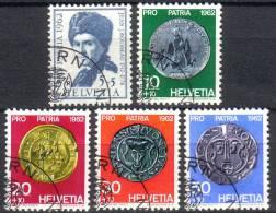 PRO PATRIA 1962 Série Complète Obl. 1er Jour - Pro Patria