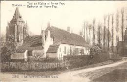 2129  HOUTHEM Kerktoren En Hoeve Feys  Tour De L' Eglise Et Ferme Feys - Belgique