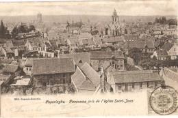2136  POPERINGHE POPERINGE Panorama Pris De L' Eglise Saint Jean  Kerk - Poperinge