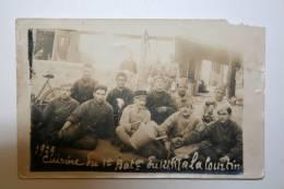 Carte Photo - 1929 - Cuisine Du 1er Bataillon Du 121 RI à La Courtine - Militaria
