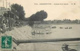 94-58 CPA CHARENTON  Joutes à La Lance   Animation   Belle Carte - Charenton Le Pont