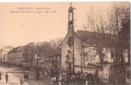 FRANCE:BORDEAUX:(Gironde:33.):Rue De Pessac.Chapelle Notre-Dame Des Anges.Fort Animée.Auto-Trams.Non écrite. - Bordeaux