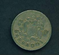 BARBADOS  -  1973  25 Cents  Circulated As Scan - Barbades