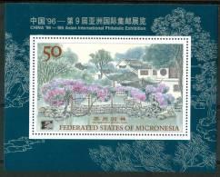 """1996 Micronesia """"China 96"""" Esposizione Filatelica Stamp Exhibition Block MNH** Spa133 - Micronesia"""