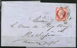France N 24 Sur Lettre Du 6 Juin 1867 - Marcofilia (sobres)