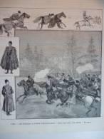 Paris , Les Cosaques Au Jardin D'acclimatation , Gravure De Gusman , Dessin De Guilliod 1889 - Documents Historiques