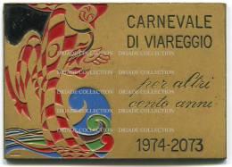 TARGA PUBBLICITARIA SU METALLO SMALTATO CARNEVALE DI VIAREGGIO ANNO 1974 INCISORE BERTONI - Advertising (Porcelain) Signs