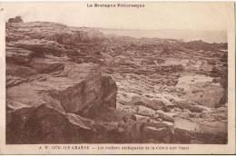 PLEUMEUR BODOU  ILE GRANDE  LES ROCHERS DECHIQETES DE LA COTE A MAREE BASSE - Pleumeur-Bodou