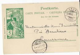 20457 - Entier Postal UPU Avec Superbe  Cachet é Date D'Oron 1900 - Entiers Postaux