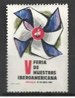 """Vignette, Cinderella, Espagne, Séville, 1965, """"Muestras Iberoamericana""""  (POU068) - Viñetas De Fantasía"""