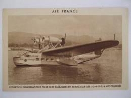 AL2-AIR FRANCE -HYDRAVION QUADRIMOTEUR POUR 12/15 PASSAGERS EN SERVICE SUR LES LIGNES DE LA MEDITERRANEE-BOURGET 19/7/36 - 1919-1938: Between Wars