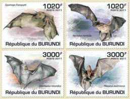 BURUNDI 2011 MNH** - Bats - Mi 2046-9, YT 1197-1200 - Burundi