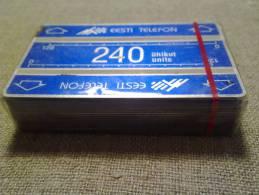 Estonian Phonecards 240 Units Pack (25 Cards) - Estland