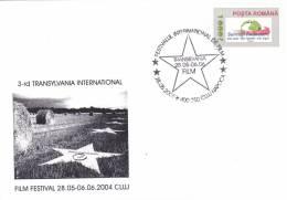 THE INTERNATIONAL FILM TRANSILVANIA,SPECIAL COVER,2006 OBTILERATION CONCORDANTE,ROMANIA - Cinema