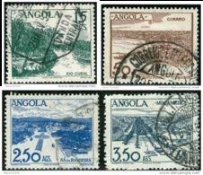 ANGOLA, PANORAMI, LANDSCAPES, 1949, FRANCOBOLLI USATI, Scott 321,322,323,323A - Angola