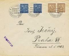 0061. Carta Impresos HRONOV (Checoslovaquia) 1932. Aniversario - Checoslovaquia