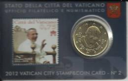 VATICANO STAMP AND COINCARD NUM.2 2012 JUAN PABLO I - Vaticano (Ciudad Del)