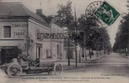D - 72 - Circuit De La Sarthe 1911 - Départ De La Lune De Pontlieue - Voitures Légères - (Poste - Tabac). (voir Scans). - Frankrijk