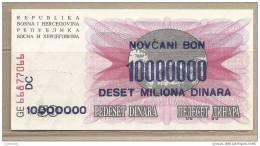 Bosnia Erzegovina - Banconota Circolata Da 10.000.000 Dinari - 1993 - Bosnia And Herzegovina