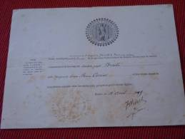 1899 : Certificat De Mariage Religieux , Paroisse Saint Godard De Rouen - Mariage