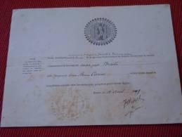 1899 : Certificat De Mariage Religieux , Paroisse Saint Godard De Rouen - Boda
