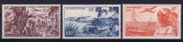 Guadeloupe: Yv. Nr Aero 13 - 15  MH/* Maury Cat Value €  25 - Guadeloupe (1884-1947)