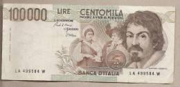 """Italia - Banconota Circolata Da 100.000 Lire """"Caravaggio I° Tipo"""" - 1983 - 100.000 Lire"""