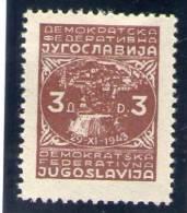 YOUGOSLAVIE 1945 ** - Yougoslavie