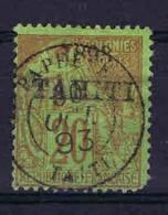 Tahiti: Yv. 25  Used      , Maury Cat Value € 65  Irregular Perforation - Used Stamps