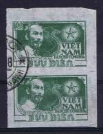 North Vietnam Michel 5b Used , Cat Value € 30,  Set Of Two - Vietnam