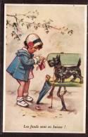 CPA   N° 2.GERMAINE BOURET  LES FONDS SONT EN BAISE VOIR PHOTO - Bouret, Germaine