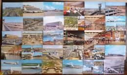LOT DE 30 CARTES : AEROPORT DE PARIS -ORLY LE BOURGET AIRPORT AEROGARE ILIOUCHINE BOEING PARKING RESTAURANT SATELLITE - Aerodrome