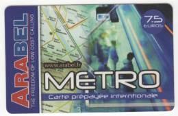 Carte Prépayée Internationale METRO - 7,5 Euros - Frankrijk