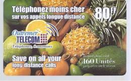 Outremer Télécom  80 FF - 160 Unités - Save On All Your - Frankrijk