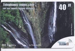 Outremer Télécom 40 FF - 80 Unités - Le Trou De Fer - Frankrijk
