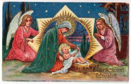 CHRISTMAS BABY JESUS AND ANGELS Nr. 1289 OLD POSTCARD - Christmas